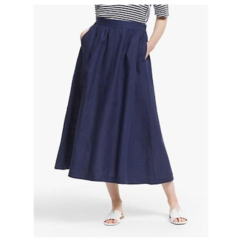 John Lewis & Partners Linen Full Midi Skirt