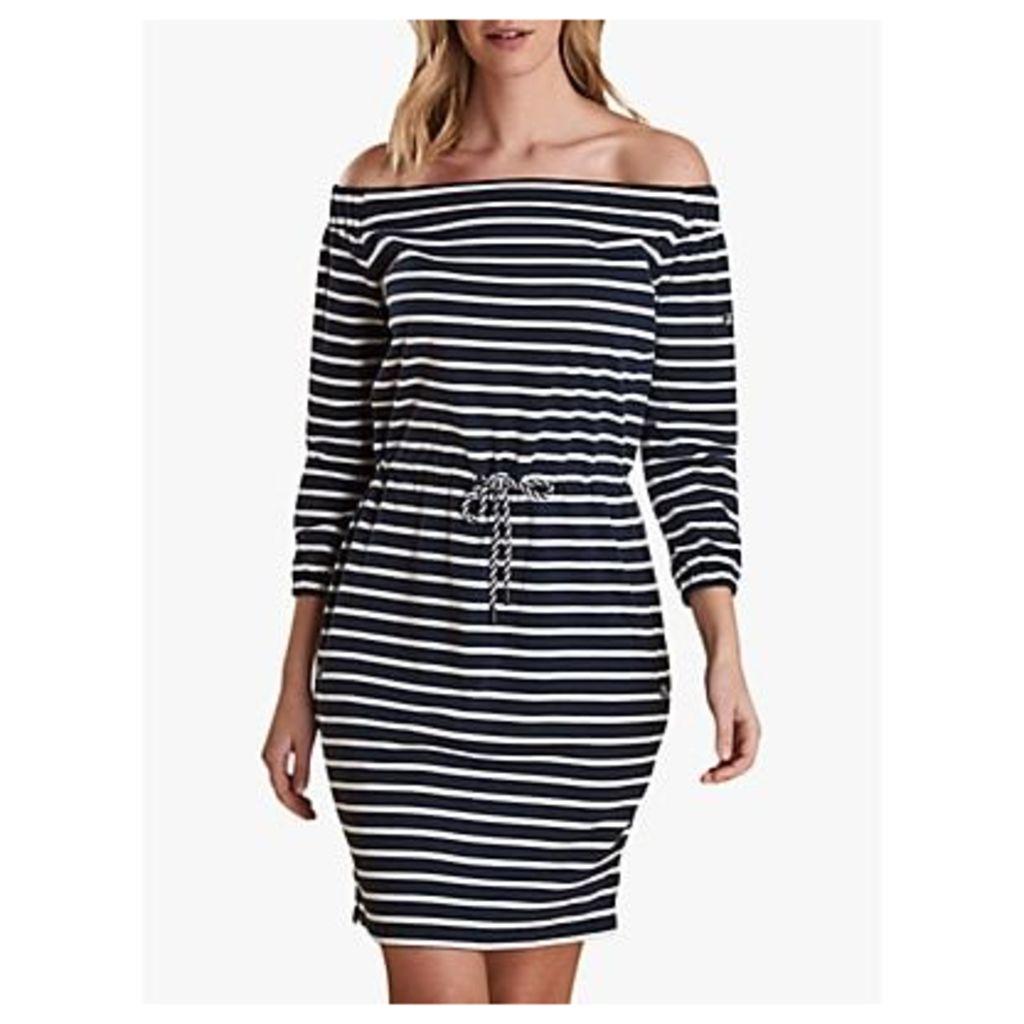 Barbour Waveson Stripe Dress, Navy/White