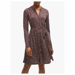 French Connection Brunella Printed Shirt Dress, Rosso Red