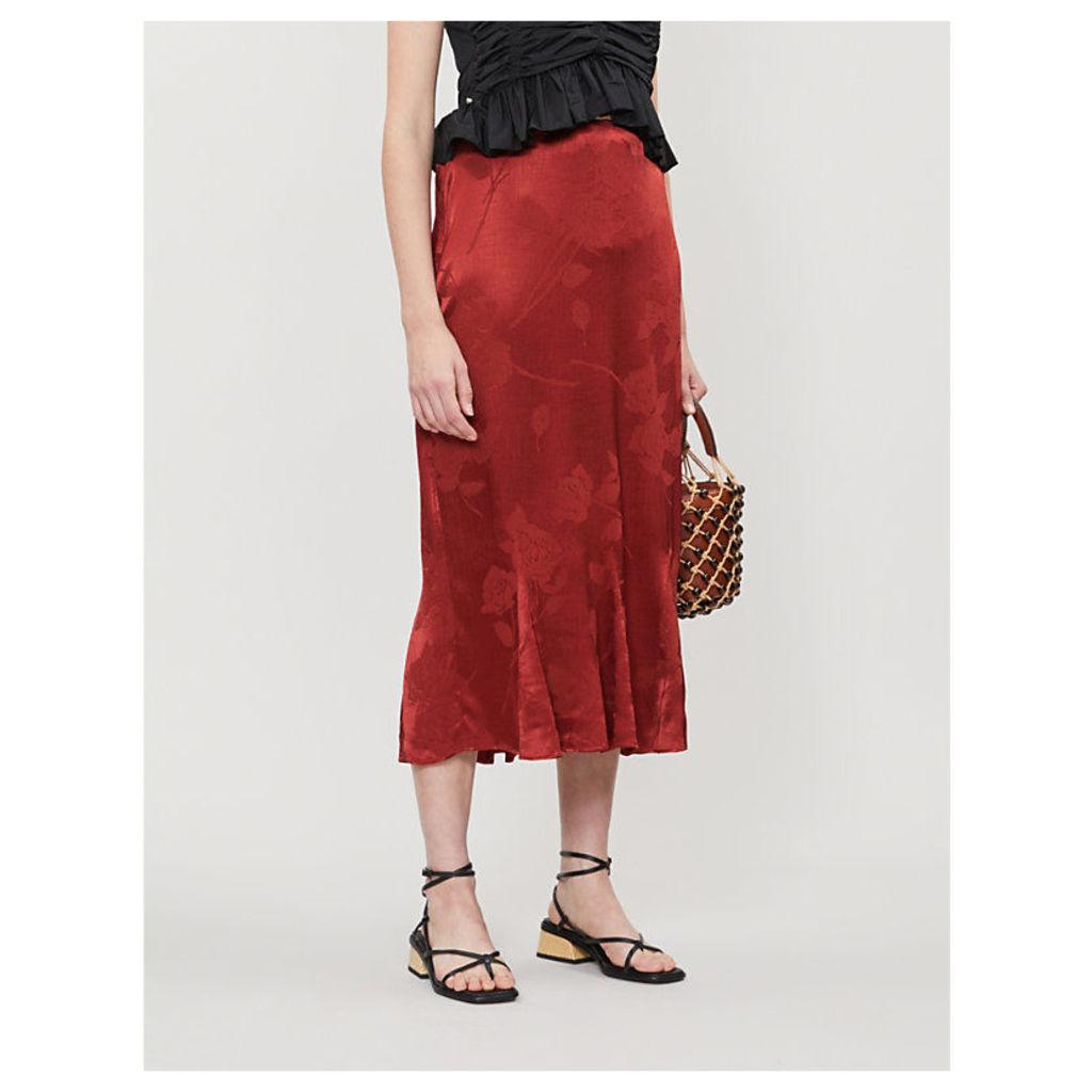 Marlow satin skirt