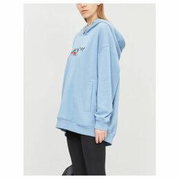 Rainbow logo-embroidered cotton hoody
