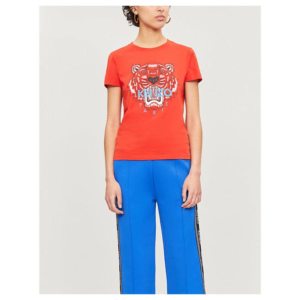 Tiger logo-print cotton-jersey T-shirt