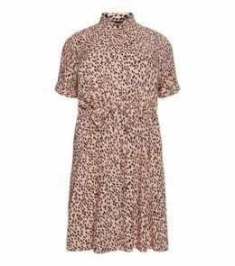 Curves Pink Animal Print Dress New Look