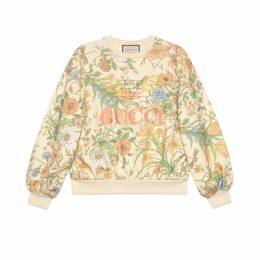Oversize sweatshirt with Flora print
