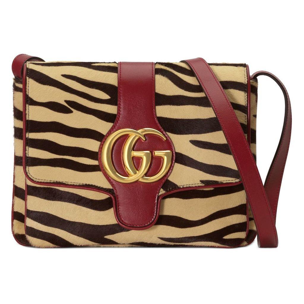 Arli tiger print medium shoulder bag