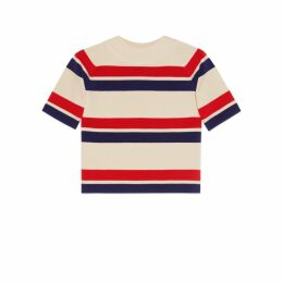 Striped wool top