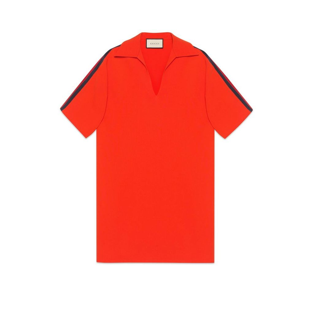 Oversize viscose shirt with Web
