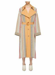 'Lennix' belted stripe coat