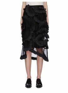 x Simone Rocha ruffle overlay mesh asymmetric skirt