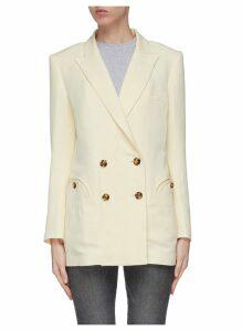 'Savannah' peaked lapel linen-silk everyday blazer