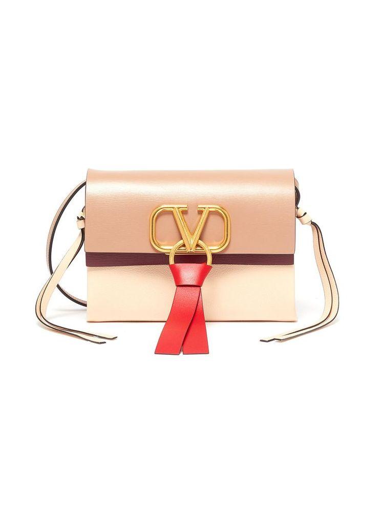 'VRing' tassel colourblock leather crossbody bag