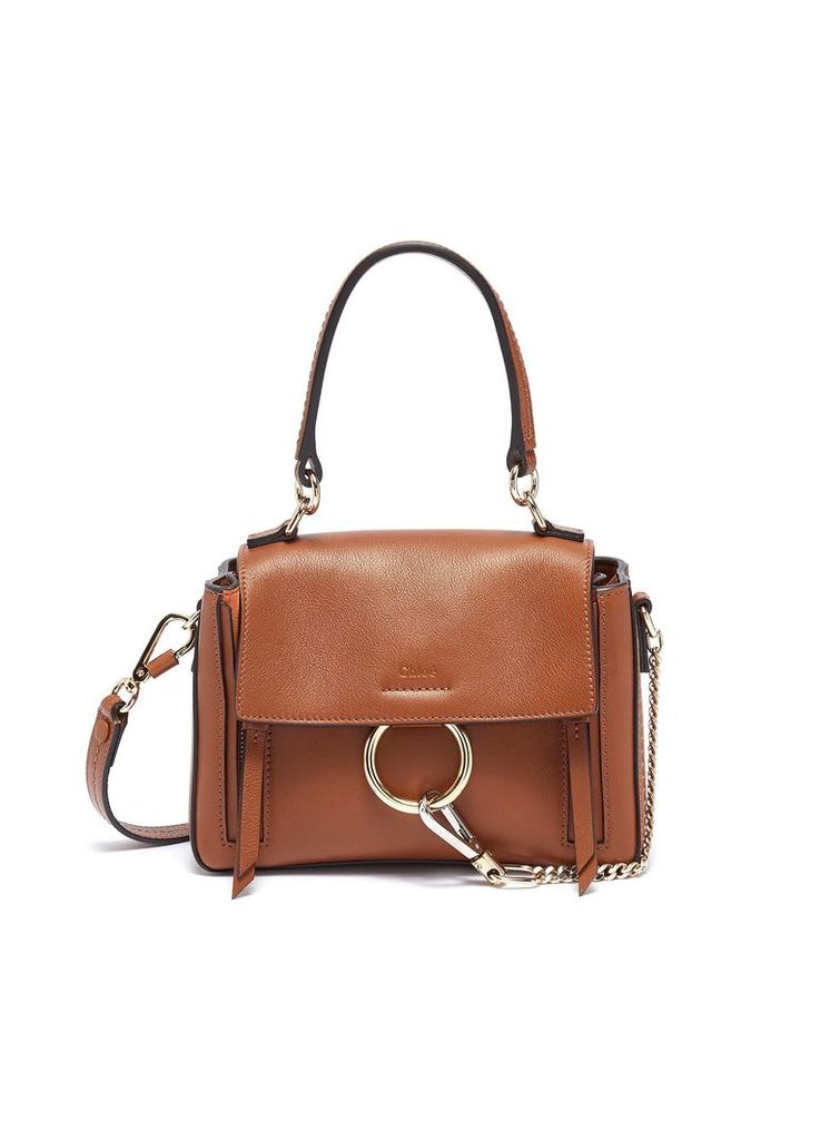 'Faye Day' mini leather shoulder bag