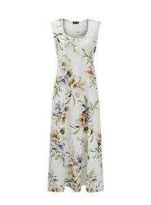 **Grace Ivory Floral Maxi Dress, Ivory
