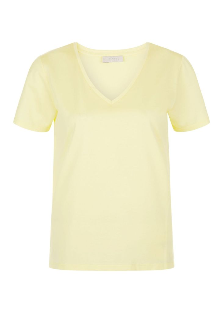 Charlotte V Neck Tee Yellow XL