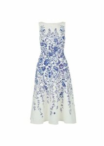 Evelyn Dress Ivory Blue 16
