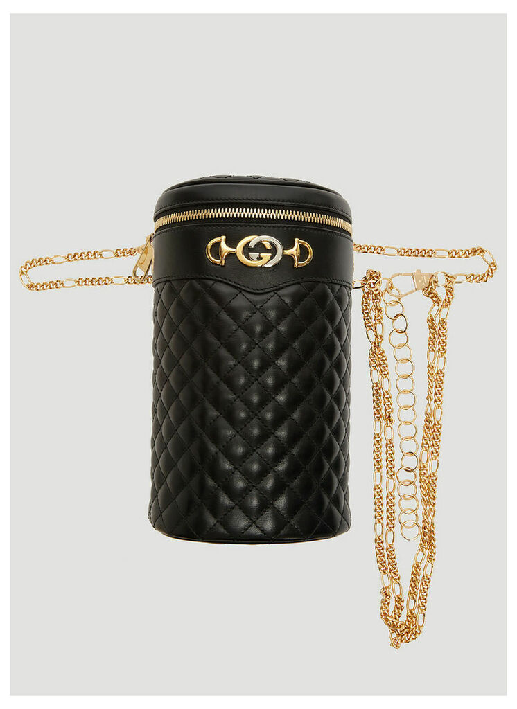 Gucci Quilted Leather Belt Bag in Black size L