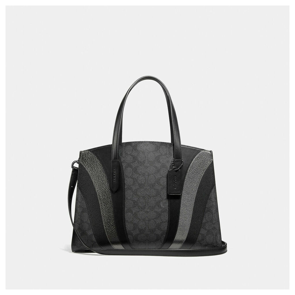 Coach Charlie Carryall In Signature Canvas With Wave Patchwork