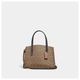 Coach Charlie Carryall 28 In Colorblock Signature Canvas