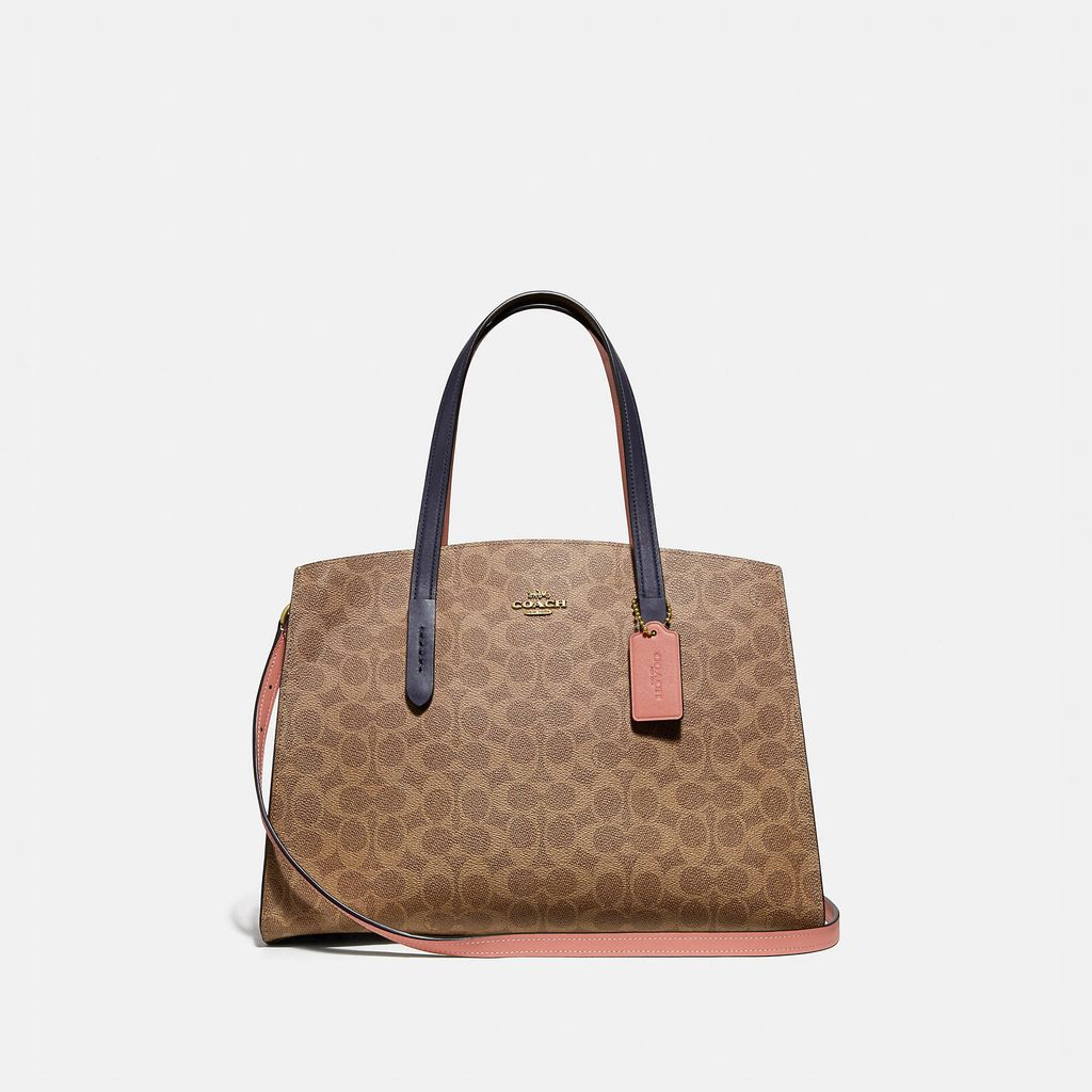Coach Charlie Carryall In Colorblock Signature Canvas