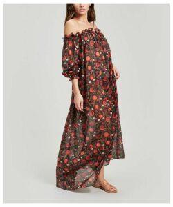 Valencia Cotton Chiffon Short Off-The-Shoulder Dress