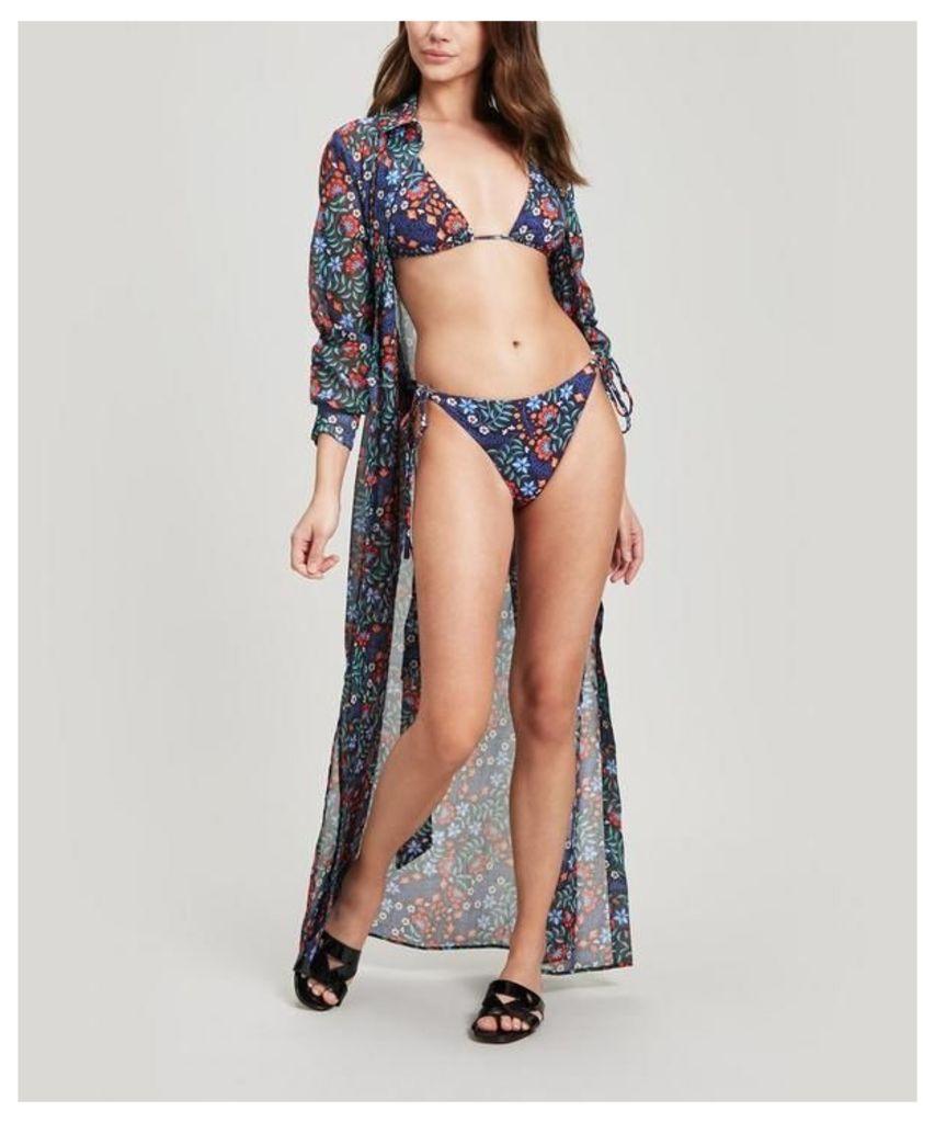 Kiya Cotton Chiffon Shirt Dress