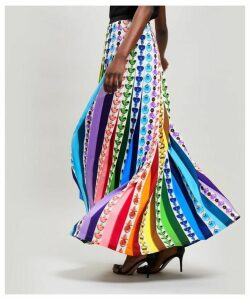 Bottle Print Rainbow Skirt