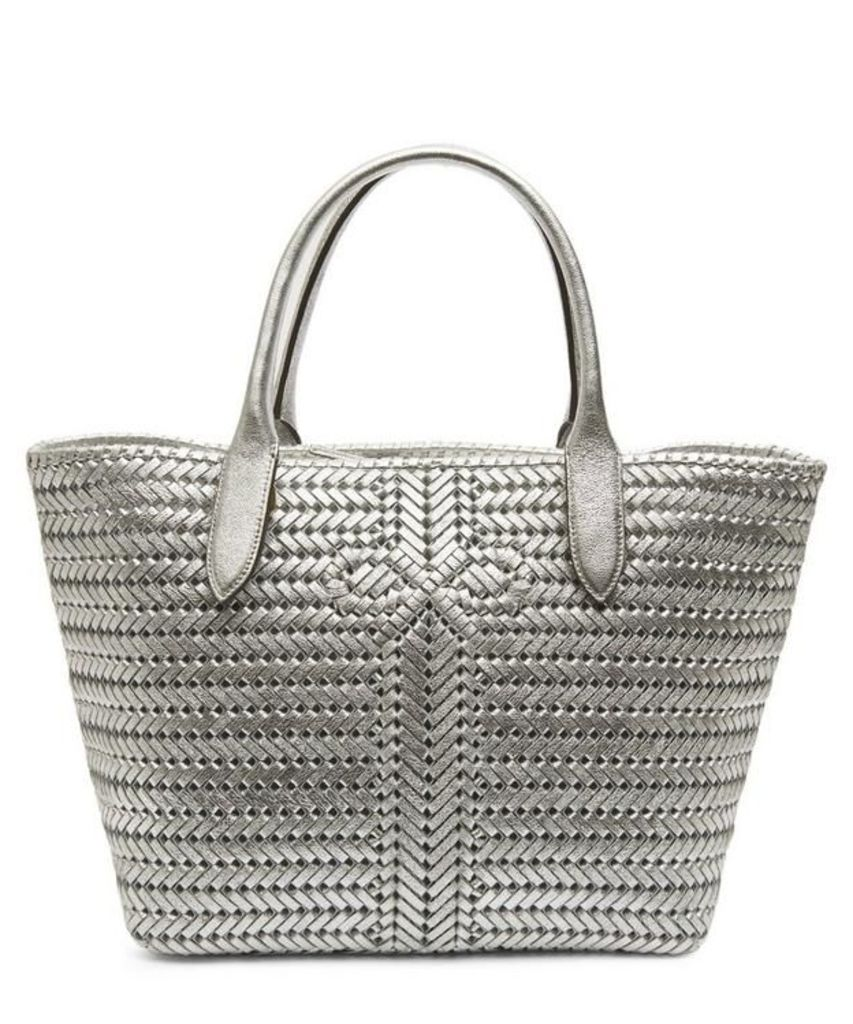 Neeson Woven Leather Tote Bag