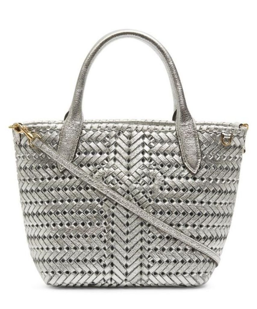 Neeson Mini Woven Leather Tote Bag