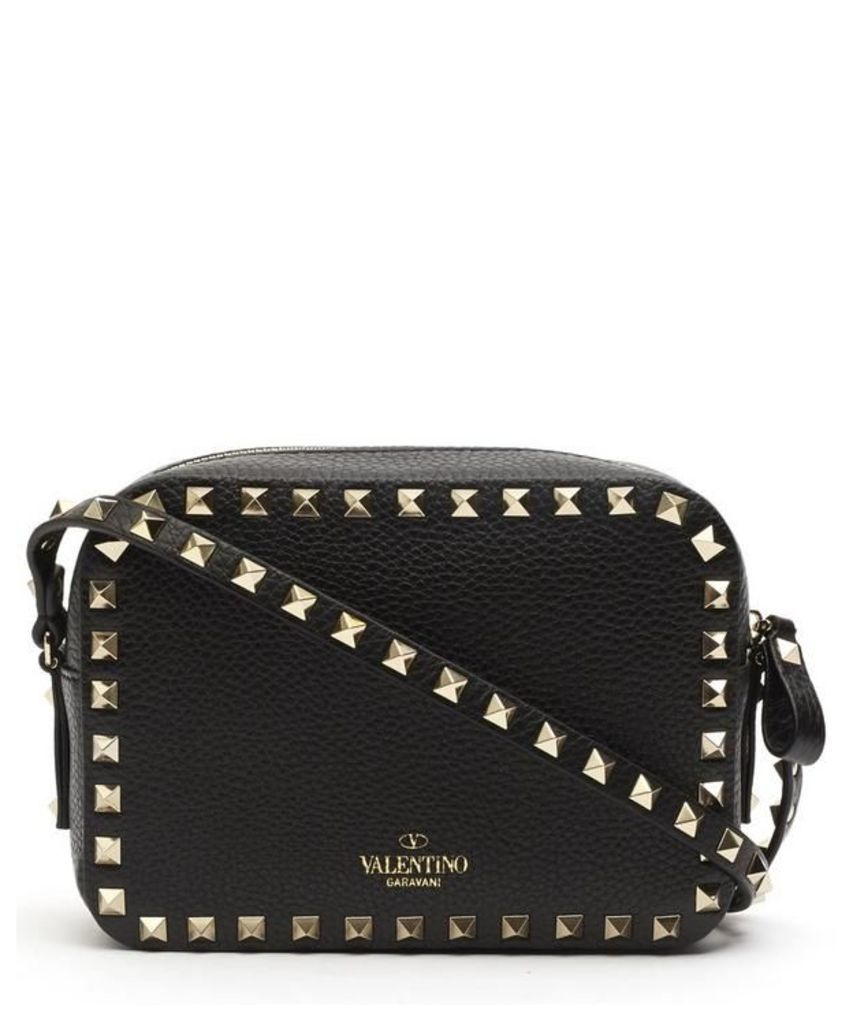 Leather Rockstud Cross-Body Camera Bag
