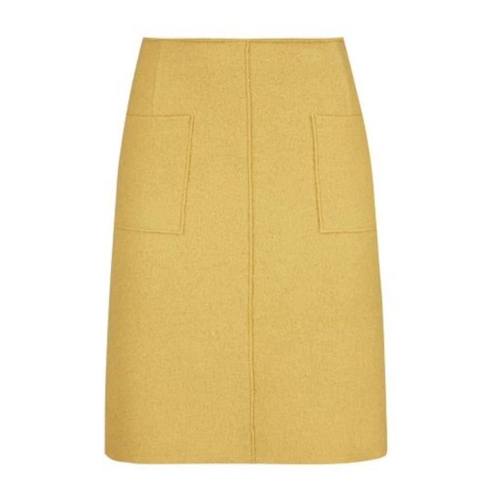 Dijon A Line Boiled Wool Skirt