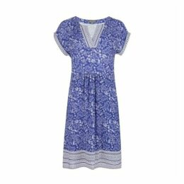Blue Paisley and Geo Wave Tunic Dress