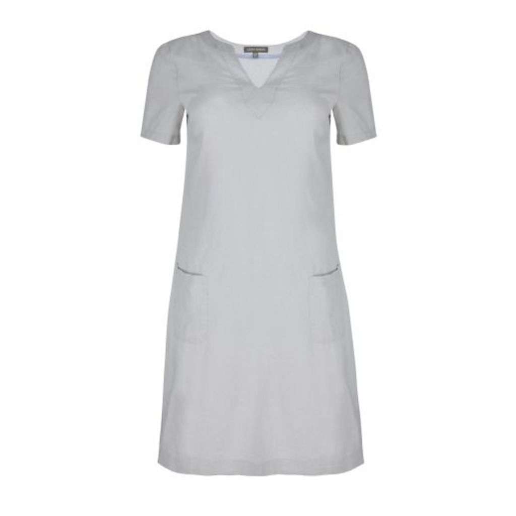 Grey Linen Tunic Dress