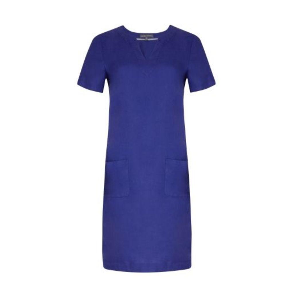 Cobalt Linen Tunic Dress