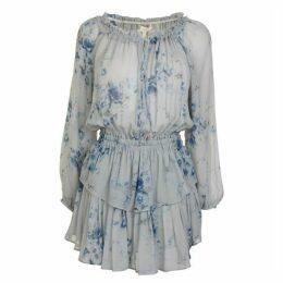 LoveshackFancy Popover Floral Dress