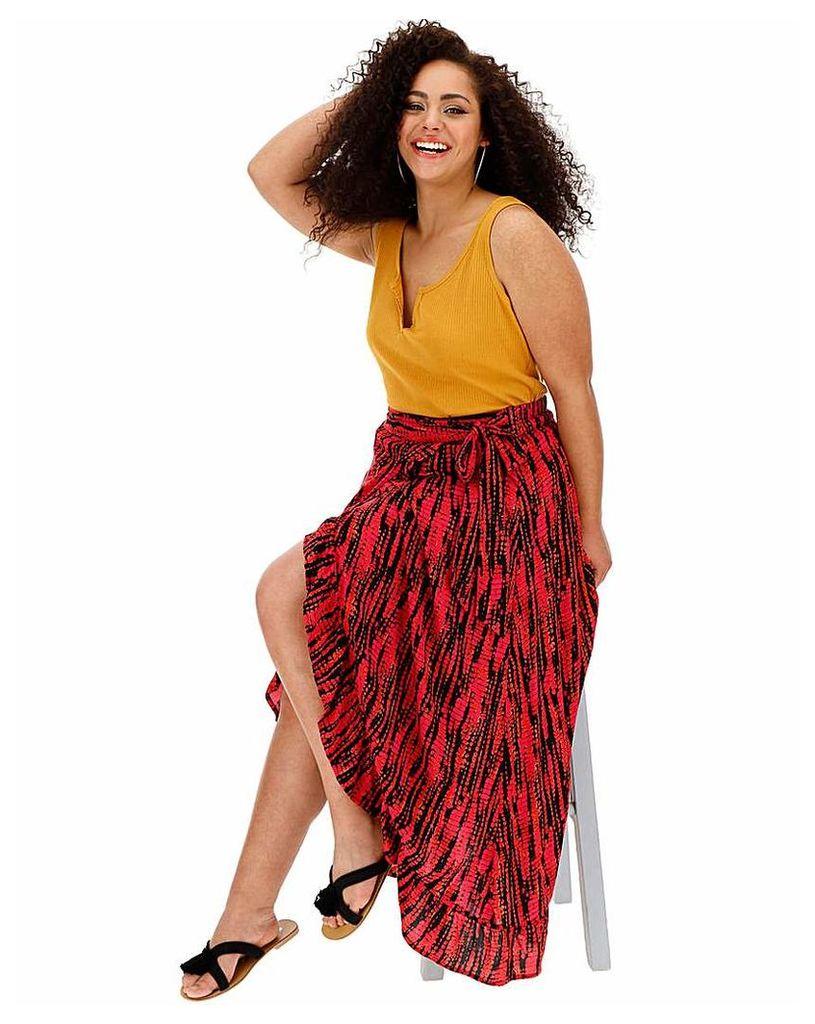 Tie Dye Crinkle Wrap Skirt