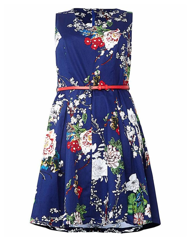 Izabel London Curve Blossom Print Dress