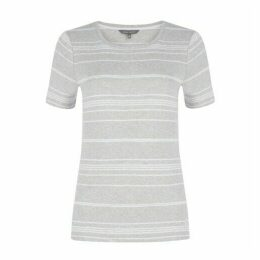 Grey and White Striped TShirt