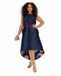 Chi Chi London Floral Dip Back Dress