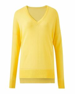 Lemon Lightweight Pointelle Jumper