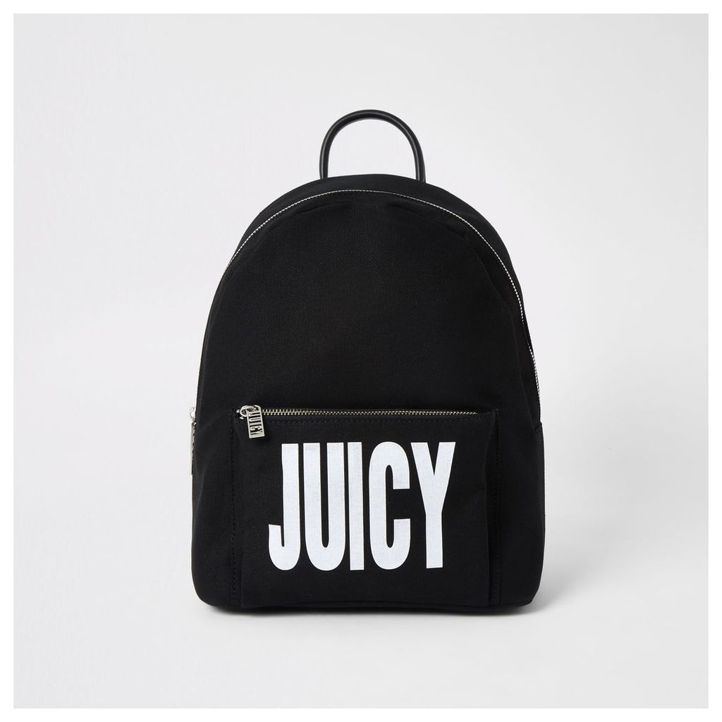 Womens Juicy Couture Black logo print backpack