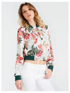 Guess Floral Pattern Bomber