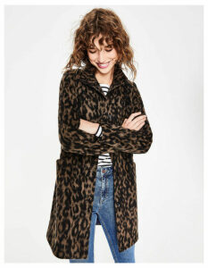 Hengrave Coat Brown Women Boden, Leopard