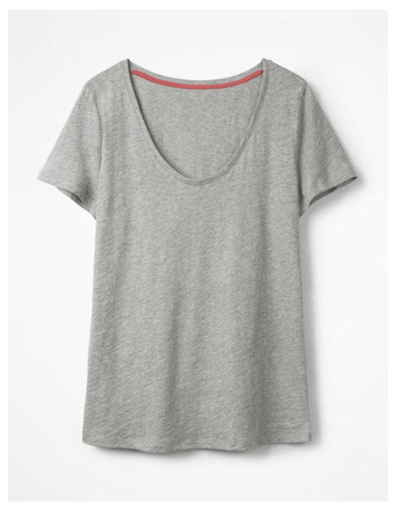 The Cotton Voop Tee Grey Women Boden, Grey
