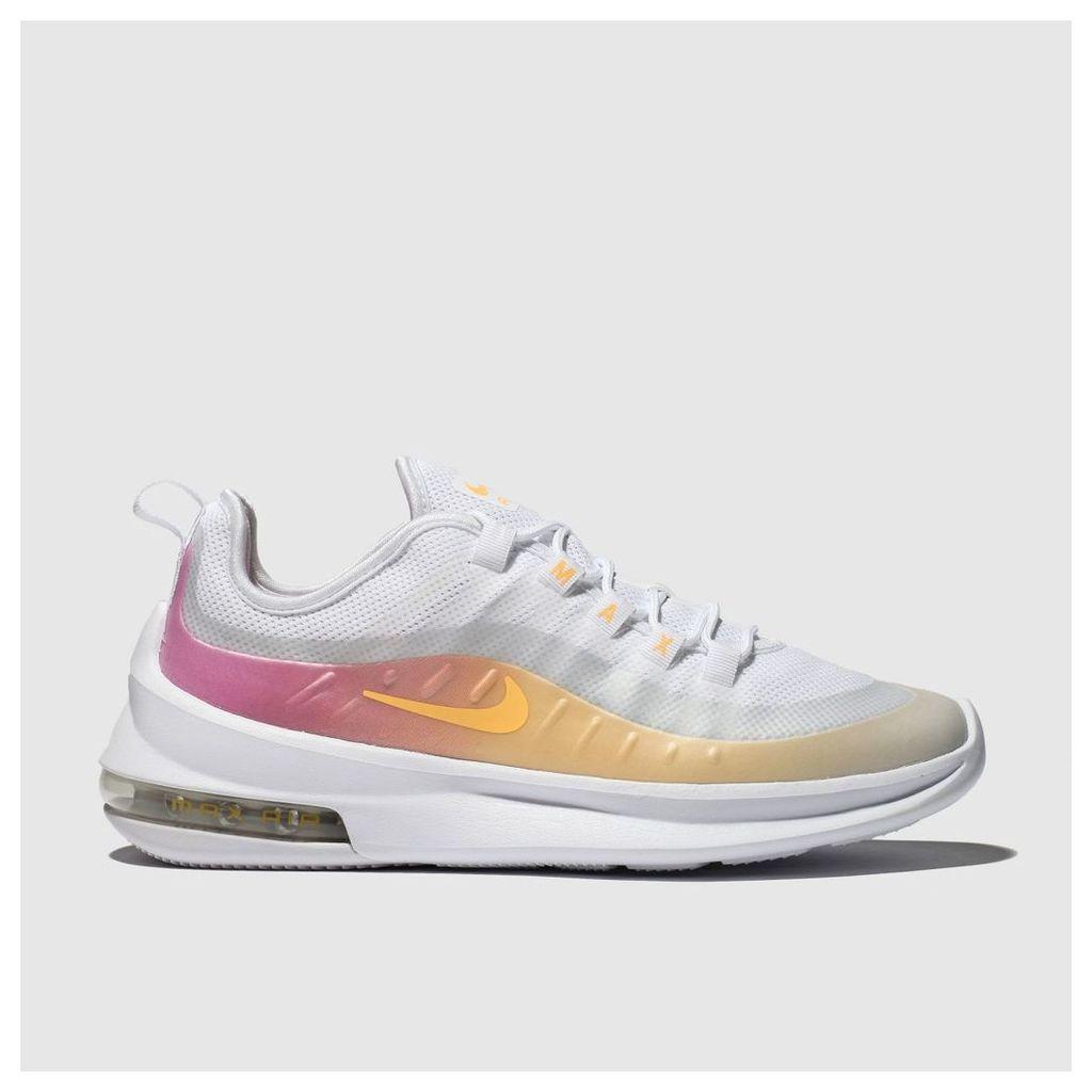 Nike White & Pink Air Max Axis Premium Trainers