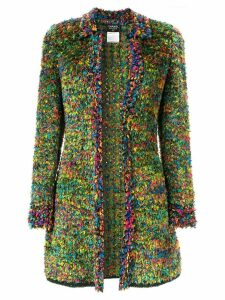 Chanel Pre-Owned frayed long sleeve cardigan - Multicolour