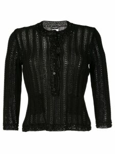 Chanel Pre-Owned long sleeve knitted cardigan - Black