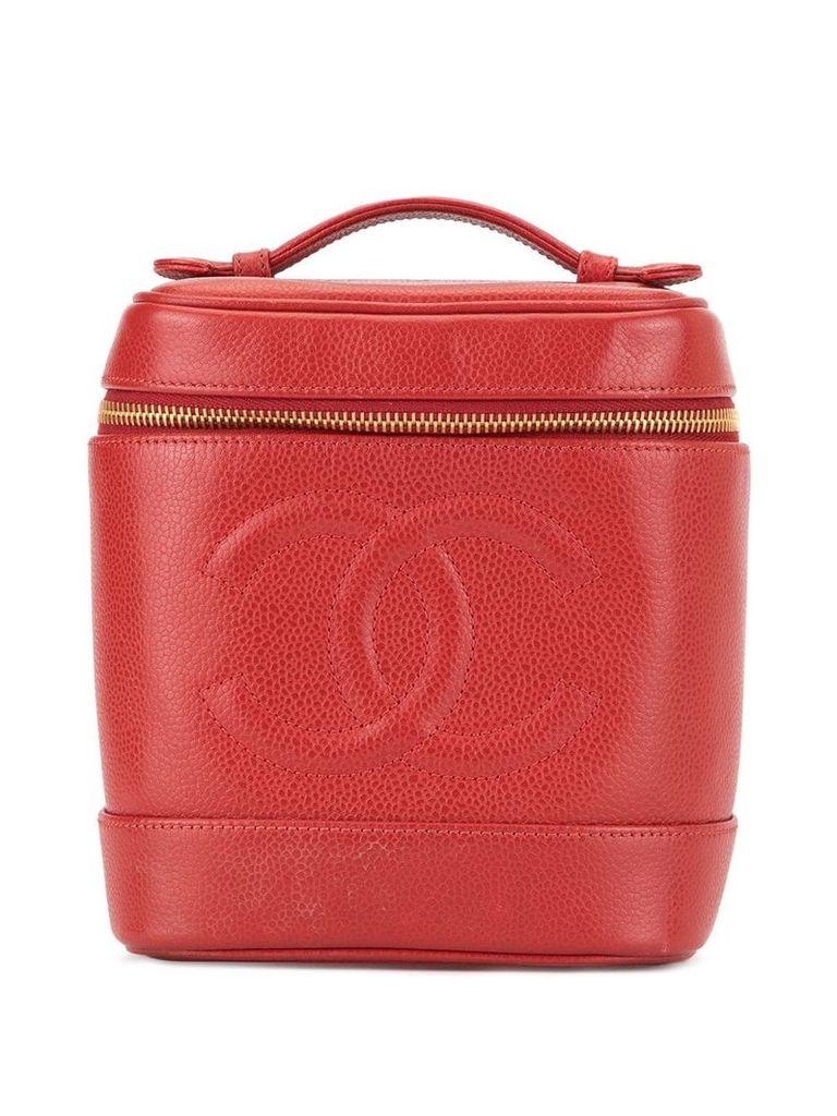 Chanel Vintage CC stitch vanity bag - Red
