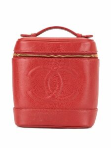 Chanel Pre-Owned CC stitch vanity bag - Red