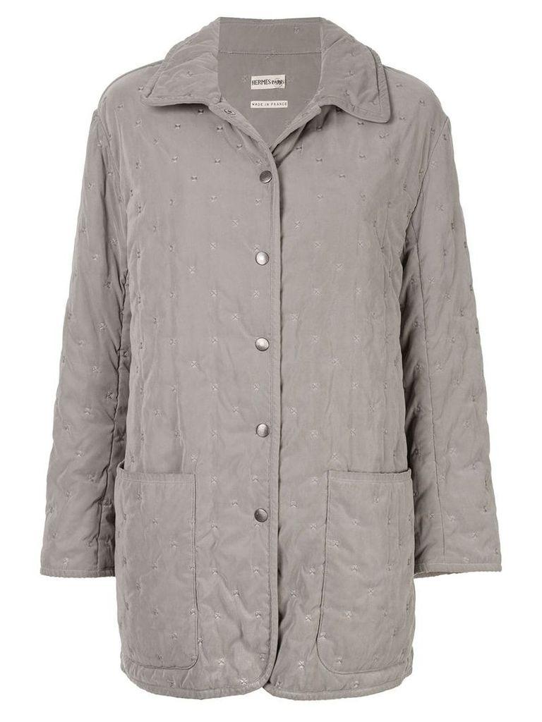 Hermès Pre-Owned Long Sleeve Coat - Grey