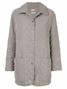 Hermès Pre-Owned Long Sleeve Coat - Grey